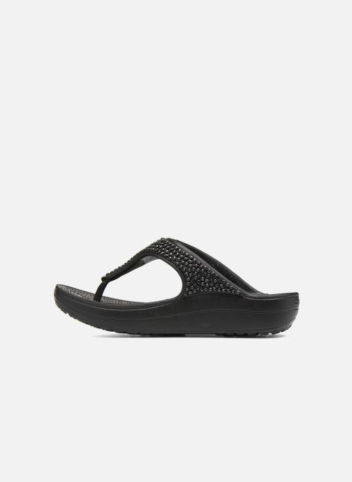 Tongs Crocs Crocs Sloane Embellished Flip Noir vue face