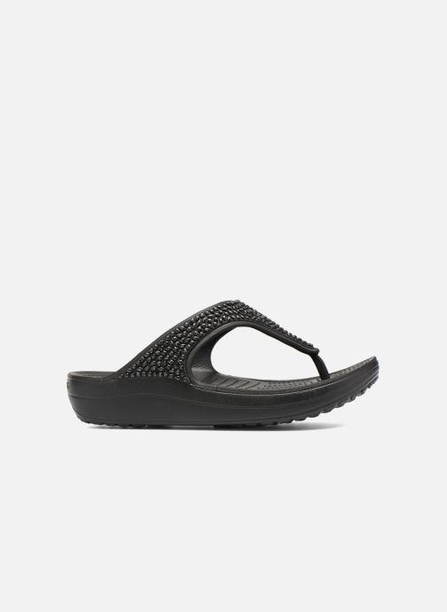 Slippers Crocs Crocs Sloane Embellished Flip Zwart achterkant