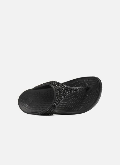 Chanclas Crocs Crocs Sloane Embellished Flip Negro vista lateral izquierda