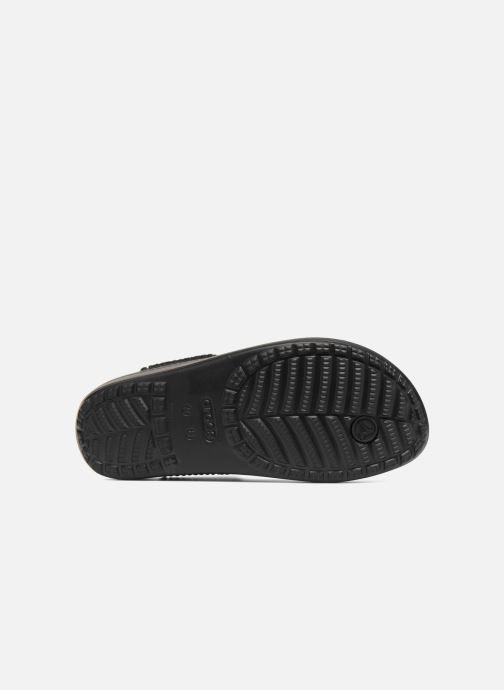 Tongs Crocs Crocs Sloane Embellished Flip Noir vue haut