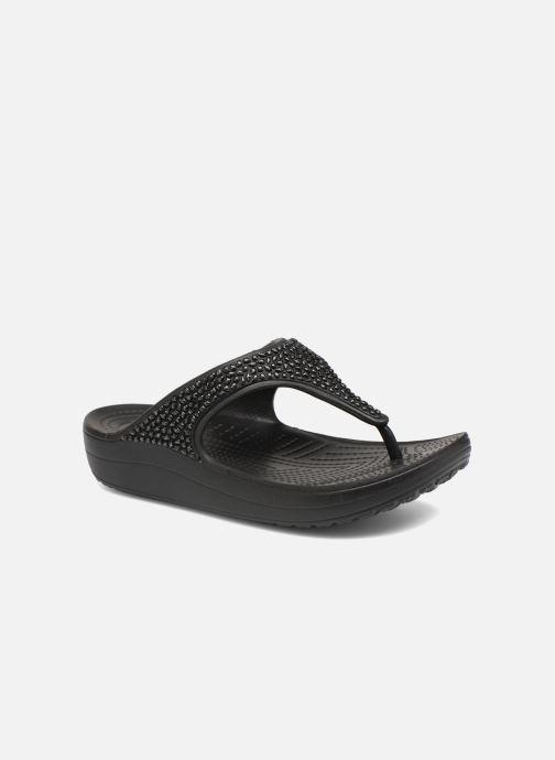 Tongs Crocs Crocs Sloane Embellished Flip Noir vue détail/paire