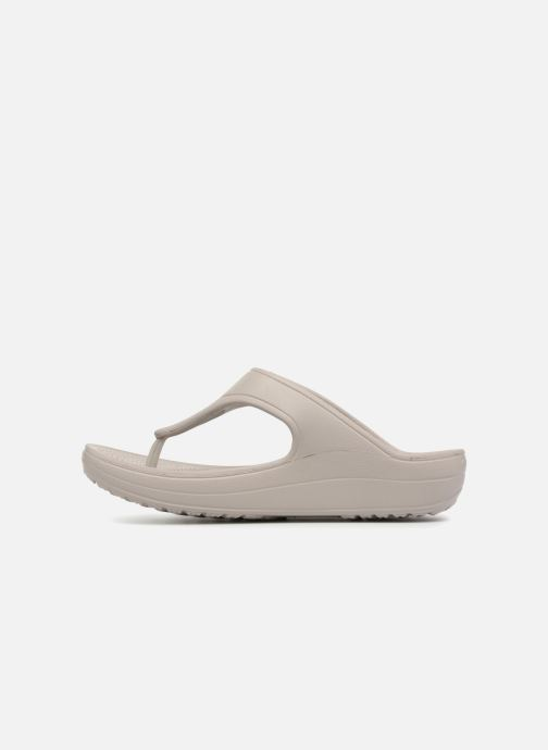 Slippers Crocs Crocs Sloane Platform Flip W Grijs voorkant