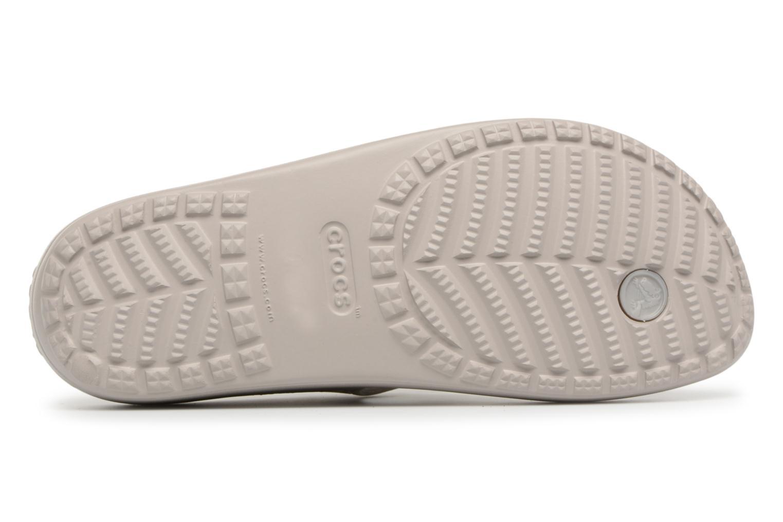 Tongs Crocs Crocs Sloane Platform Flip W Gris vue haut