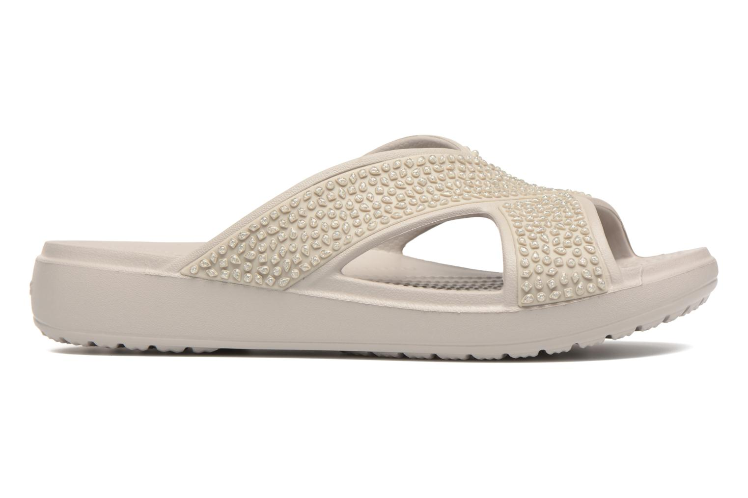 Mules & clogs Crocs CrocsSloane Embellished Xstrap Grey back view