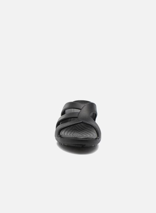 Wedges Crocs Sanrah Strappy Wedge Zwart model
