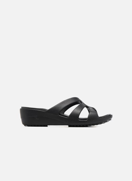 Wedges Crocs Sanrah Strappy Wedge Zwart achterkant