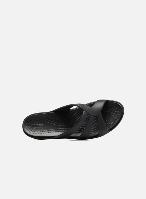 Wedges Crocs Sanrah Strappy Wedge Zwart links