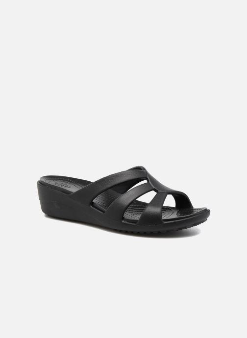 Wedges Crocs Sanrah Strappy Wedge Zwart detail