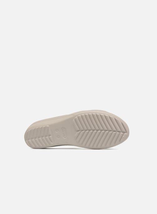 Wedges Crocs Sanrah Strappy Wedge Grijs boven