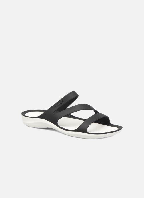 Zuecos Crocs Swiftwater Sandal W Negro vista de detalle / par