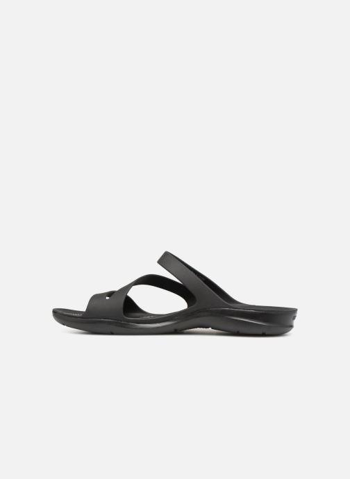 Zuecos Crocs Swiftwater Sandal W Negro vista de frente