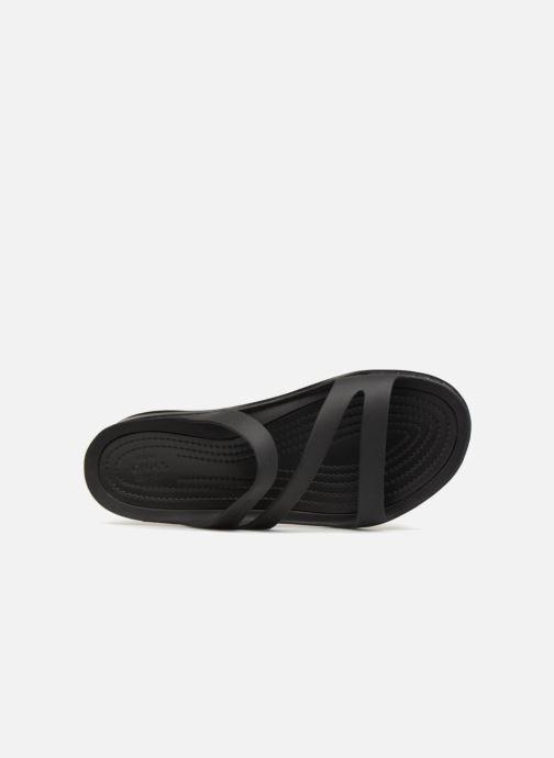 Mules et sabots Crocs Swiftwater Sandal W Noir vue gauche