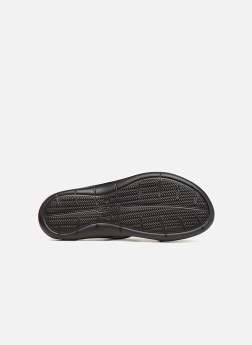 Zuecos Crocs Swiftwater Sandal W Negro vista de arriba