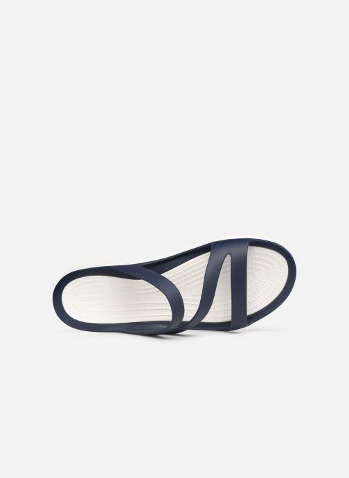 Mules et sabots Crocs Swiftwater Sandal W Bleu vue gauche