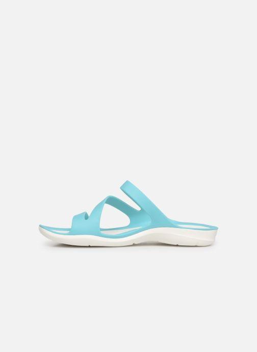 Mules et sabots Crocs Swiftwater Sandal W Bleu vue face