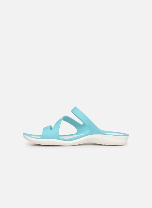 Zuecos Crocs Swiftwater Sandal W Azul vista de frente