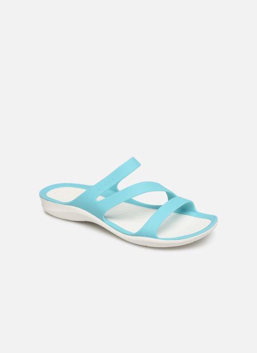 Zuecos Crocs Swiftwater Sandal W Azul vista de detalle / par