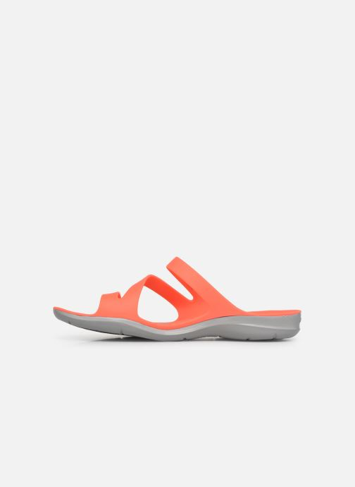 Mules et sabots Crocs Swiftwater Sandal W Orange vue face