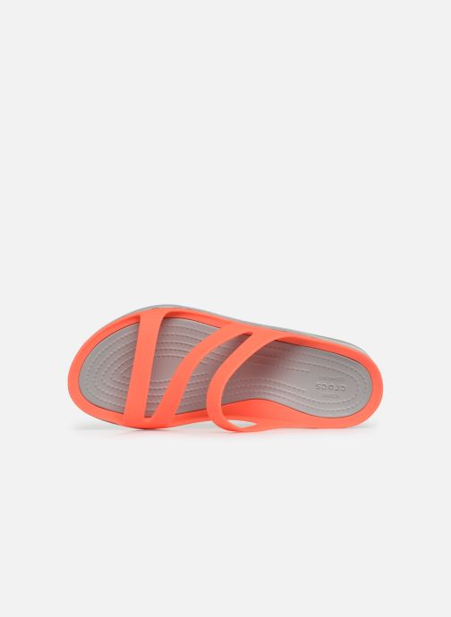 Mules et sabots Crocs Swiftwater Sandal W Orange vue gauche