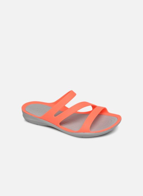 Mules et sabots Crocs Swiftwater Sandal W Orange vue détail/paire