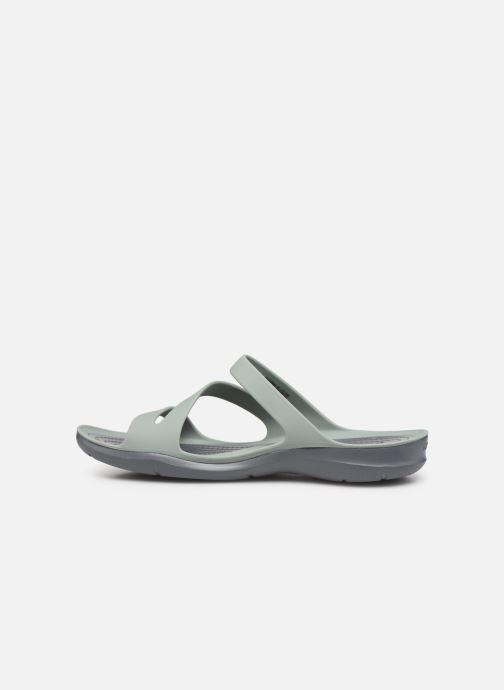 Zuecos Crocs Swiftwater Sandal W Gris vista de frente