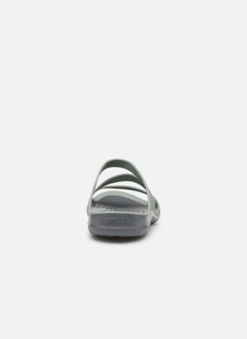 Zuecos Crocs Swiftwater Sandal W Gris vista lateral derecha