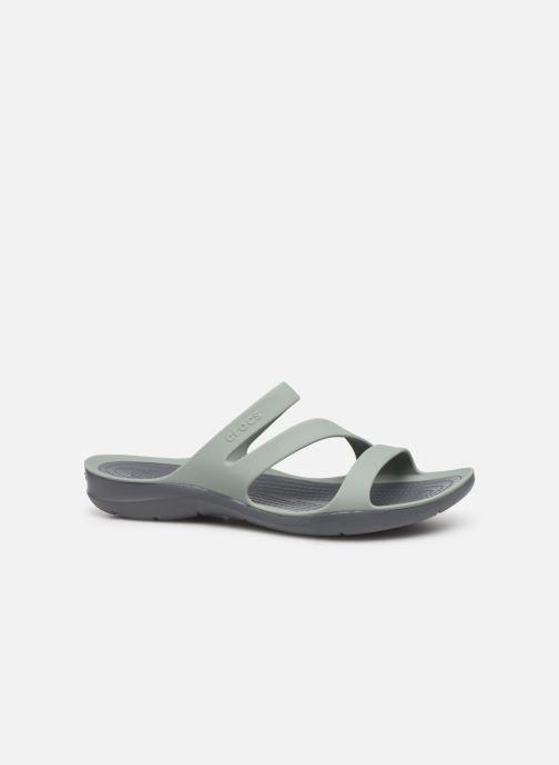 Zuecos Crocs Swiftwater Sandal W Gris vistra trasera