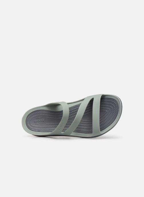 Zuecos Crocs Swiftwater Sandal W Gris vista lateral izquierda