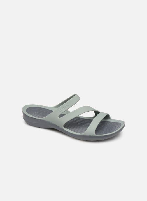 Zuecos Crocs Swiftwater Sandal W Gris vista de detalle / par