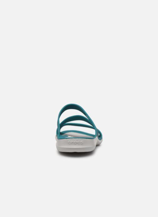 Zuecos Crocs Swiftwater Sandal W Azul vista lateral derecha