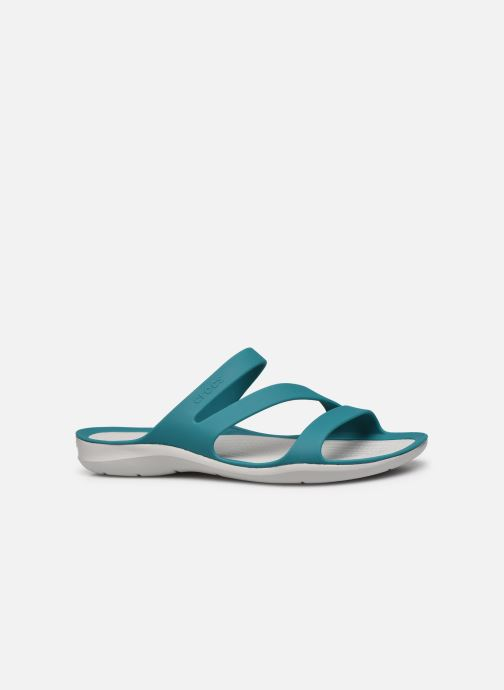 Zuecos Crocs Swiftwater Sandal W Azul vistra trasera