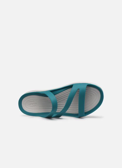 Zuecos Crocs Swiftwater Sandal W Azul vista lateral izquierda