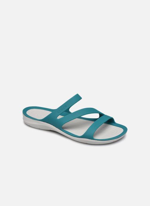 Mules et sabots Crocs Swiftwater Sandal W Bleu vue détail/paire