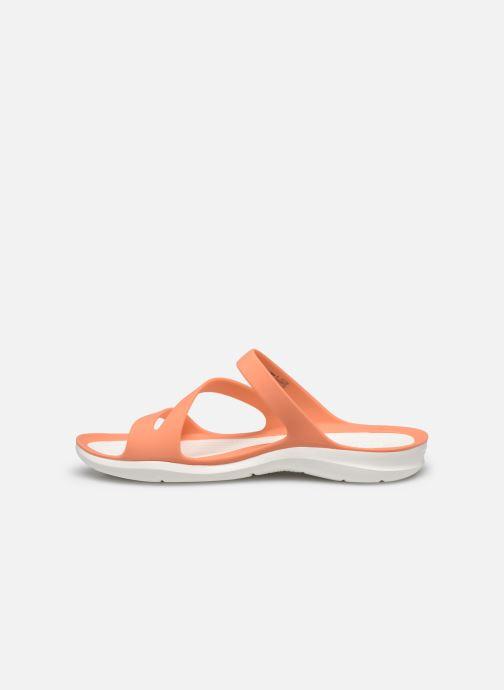 Zuecos Crocs Swiftwater Sandal W Naranja vista de frente
