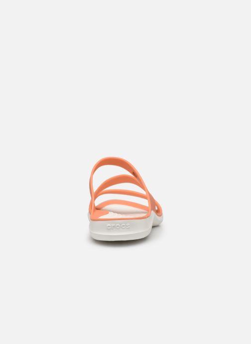 Zuecos Crocs Swiftwater Sandal W Naranja vista lateral derecha