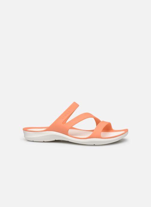Zuecos Crocs Swiftwater Sandal W Naranja vistra trasera