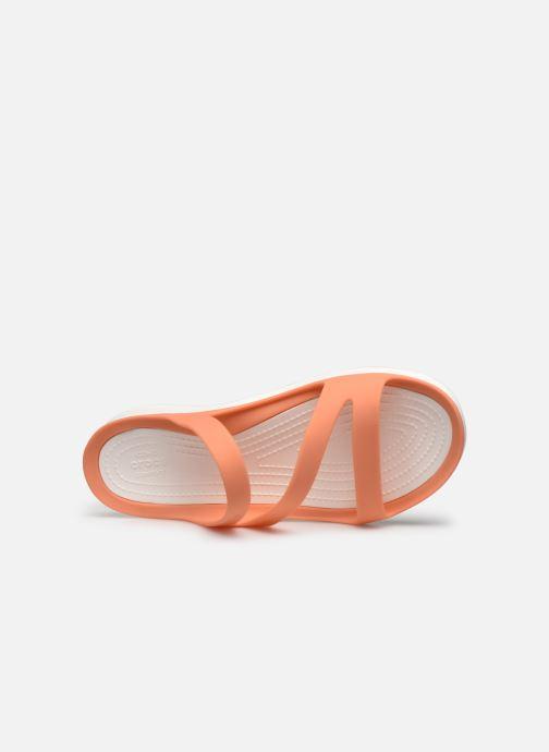 Mules et sabots Crocs Swiftwater Sandal W Orange vue gauche