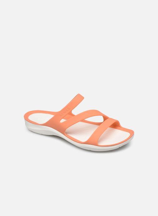 Zuecos Crocs Swiftwater Sandal W Naranja vista de detalle / par