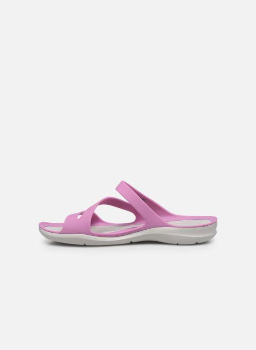 Mules et sabots Crocs Swiftwater Sandal W Violet vue face