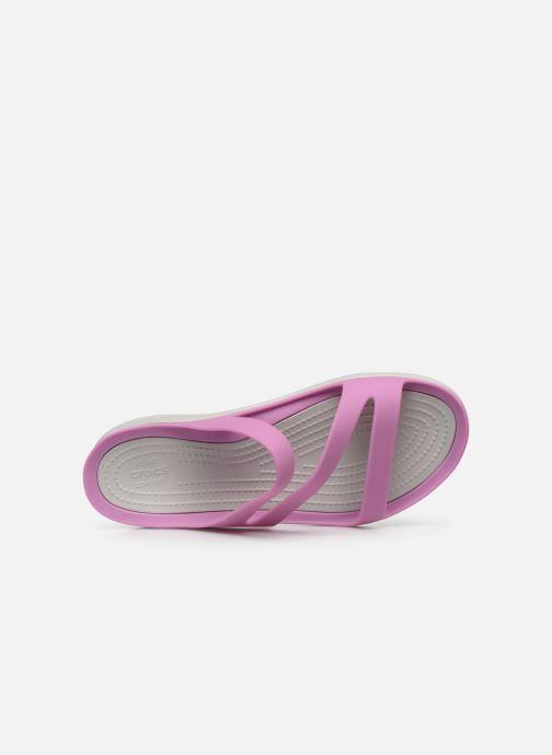 Mules et sabots Crocs Swiftwater Sandal W Violet vue gauche