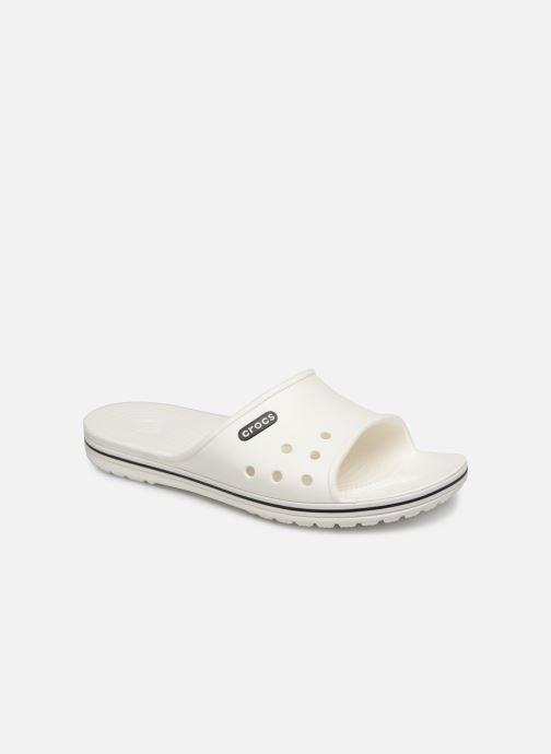 Sandales et nu-pieds Crocs Crocband II Slide Blanc vue détail/paire