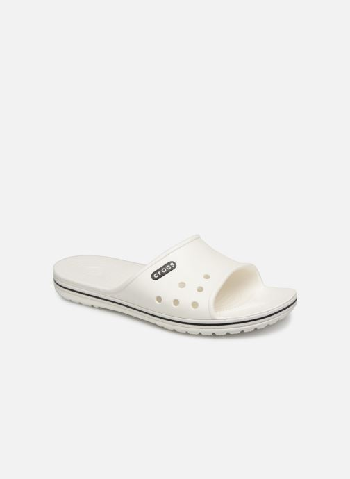 Sandals Crocs Crocband II Slide White detailed view/ Pair view
