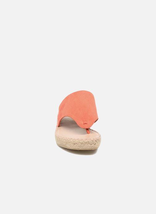 Sandales et nu-pieds La maison de l'espadrille Tong 701 Orange vue portées chaussures