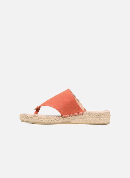 Sandales et nu-pieds La maison de l'espadrille Tong 701 Orange vue face