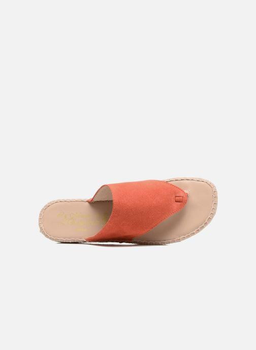 Sandales et nu-pieds La maison de l'espadrille Tong 701 Orange vue gauche