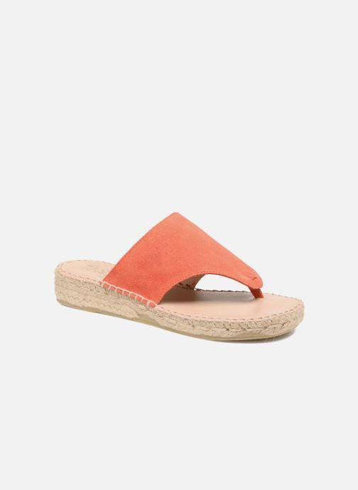 Sandales et nu-pieds La maison de l'espadrille Tong 701 Orange vue détail/paire