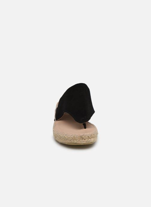 Sandales et nu-pieds La maison de l'espadrille Tong 701 Noir vue portées chaussures