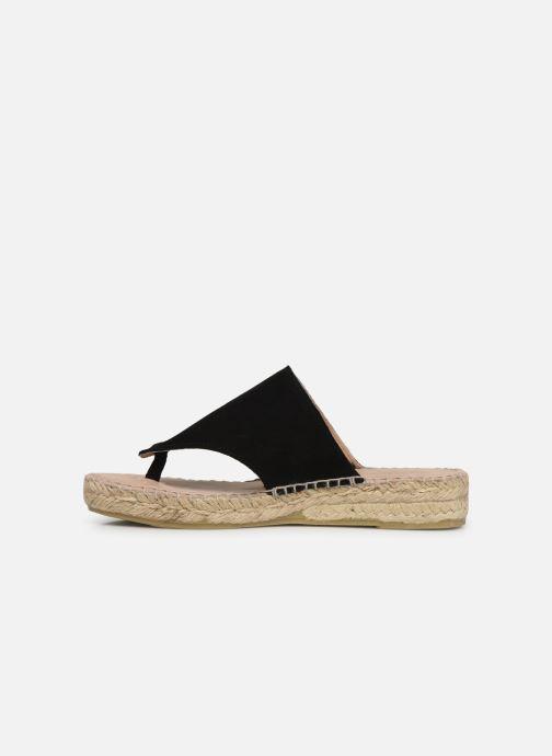 Sandales et nu-pieds La maison de l'espadrille Tong 701 Noir vue face