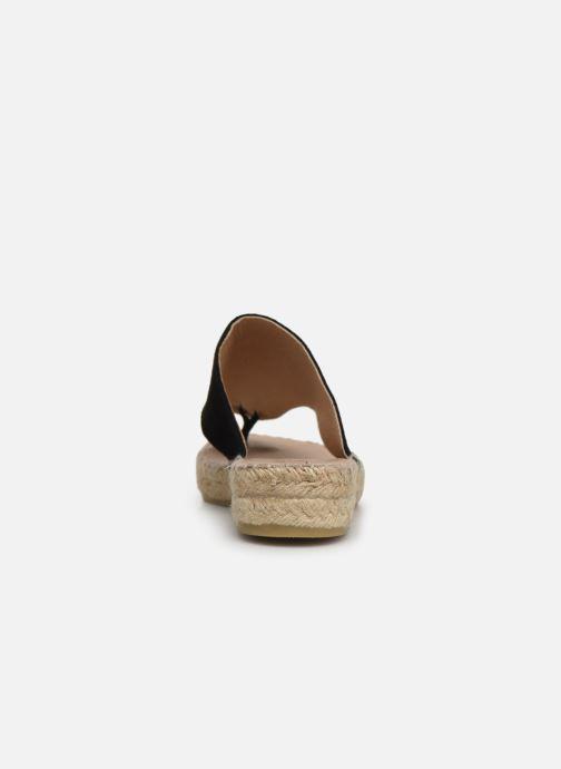 Sandales et nu-pieds La maison de l'espadrille Tong 701 Noir vue droite