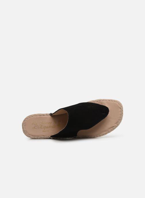 Sandales et nu-pieds La maison de l'espadrille Tong 701 Noir vue gauche